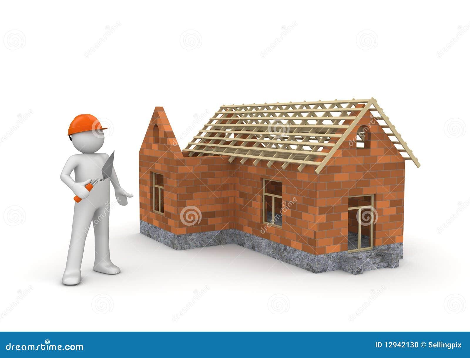 Constructor bajo casa del wireframe de la construcci n for Construccion de casas