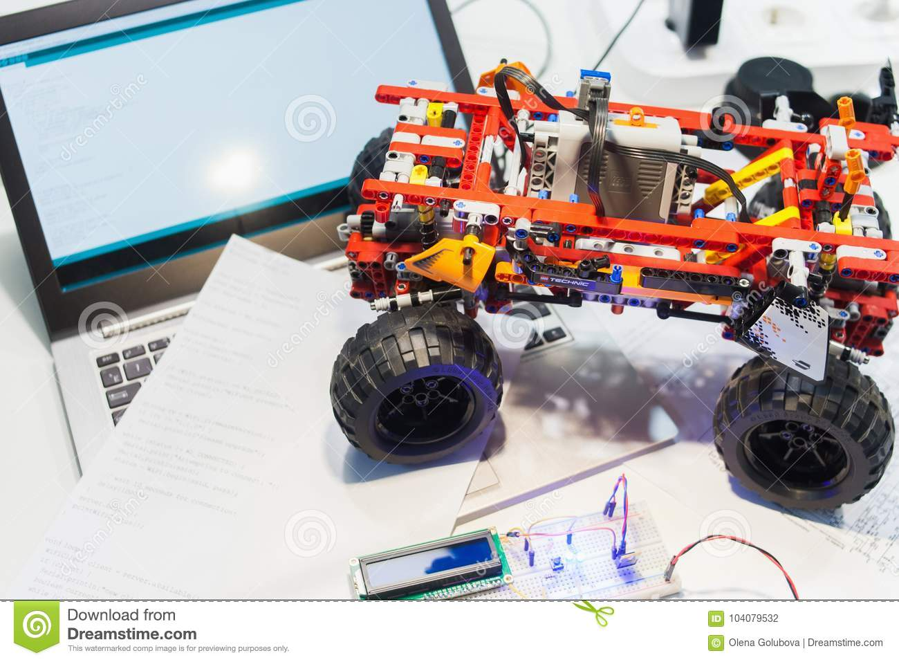 download constructor lego technic mechatronics breadboard editorial photography image of automation electronics 104079532