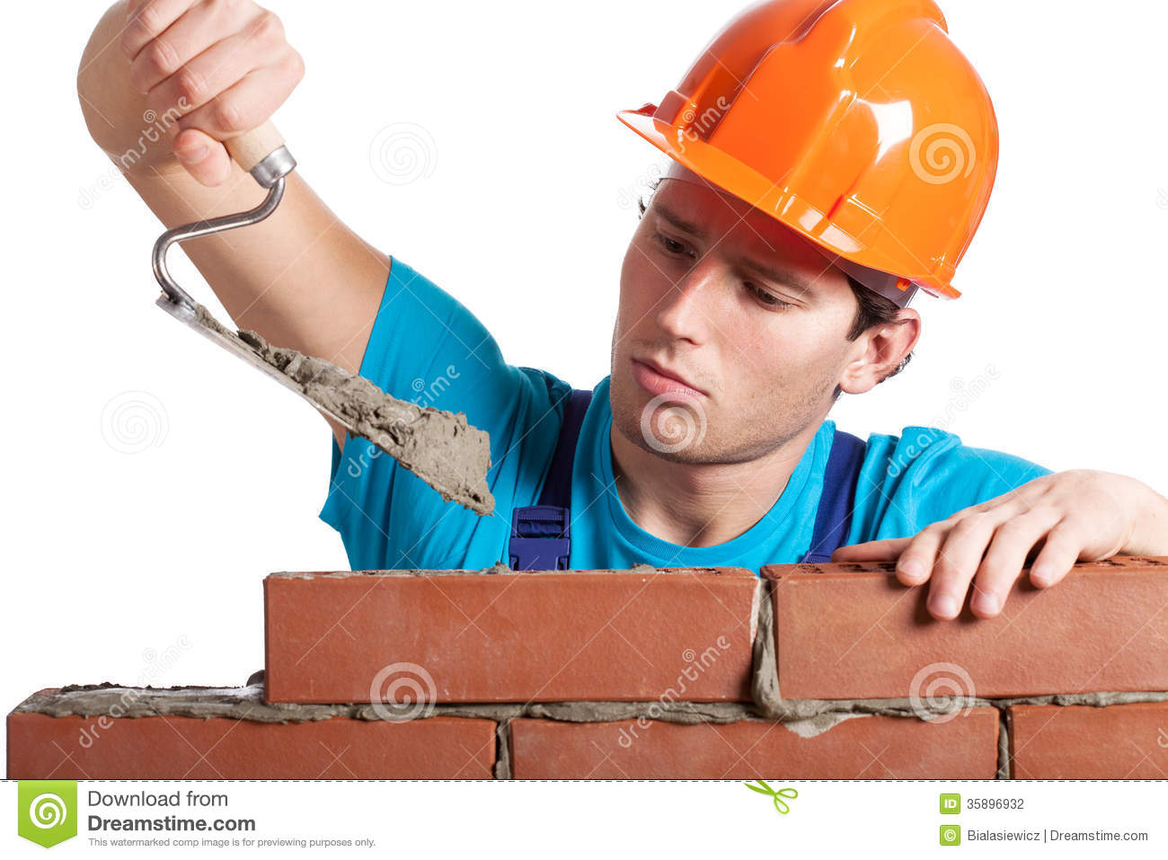 Free Home Plans Constructor With Putty Knife Building Wall Stock Photo