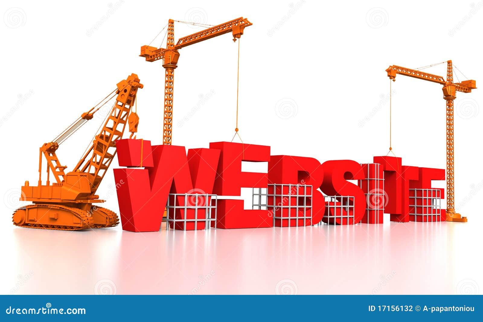 Construindo um web site ilustra o stock imagem de renda for Site web de houseoftheweek