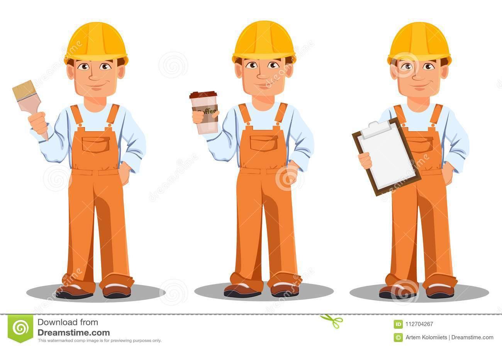 Construtor considerável no uniforme Trabalhador da construção profissional
