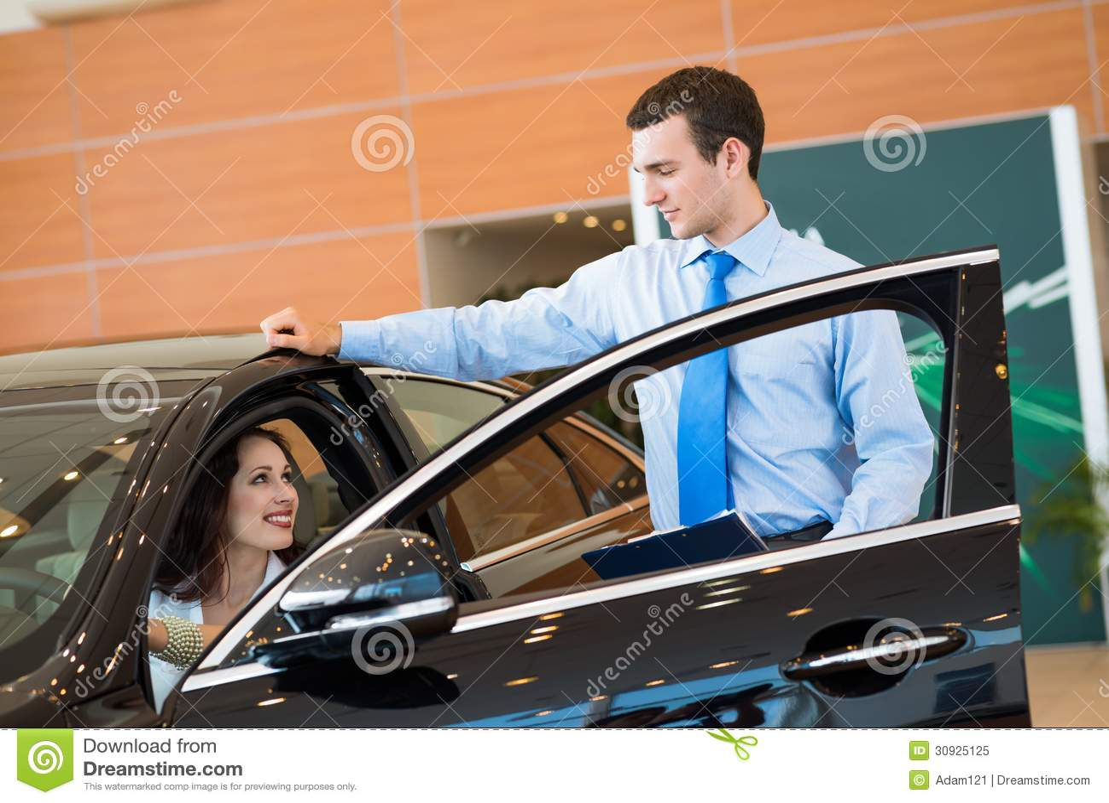 Sales Consultant In Car Showroom