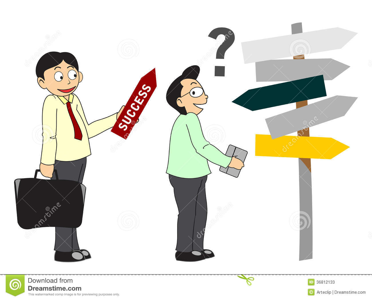 Consultant Clip Art : Consultant shows the way to success stock photos image