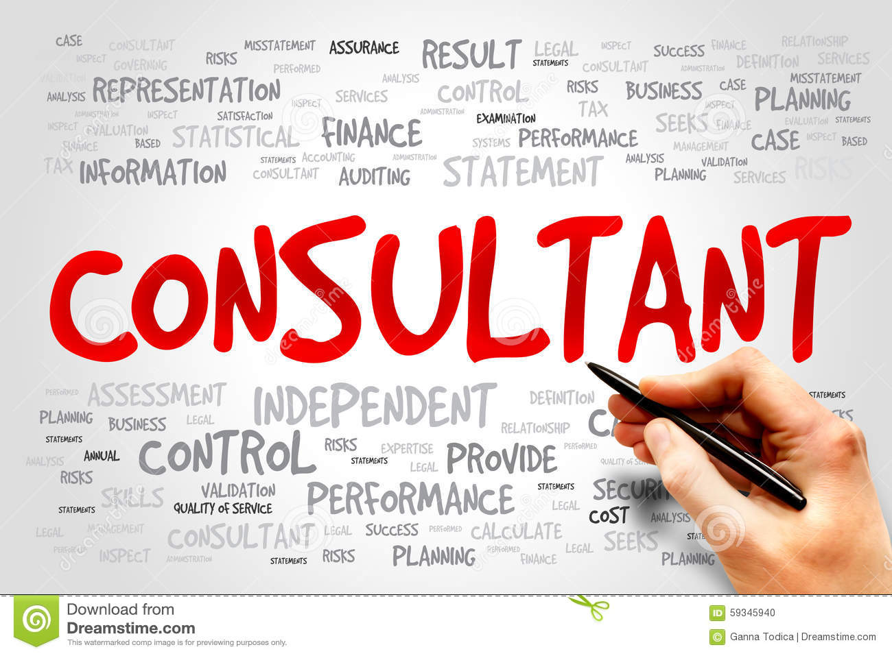 Professional Tax Consultant Stock Photography