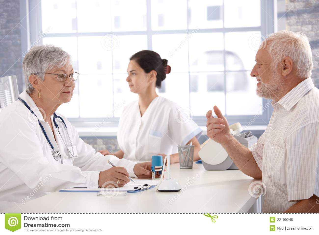 Consultation At Doctor's Room Royalty Free Stock Photo - Image ...