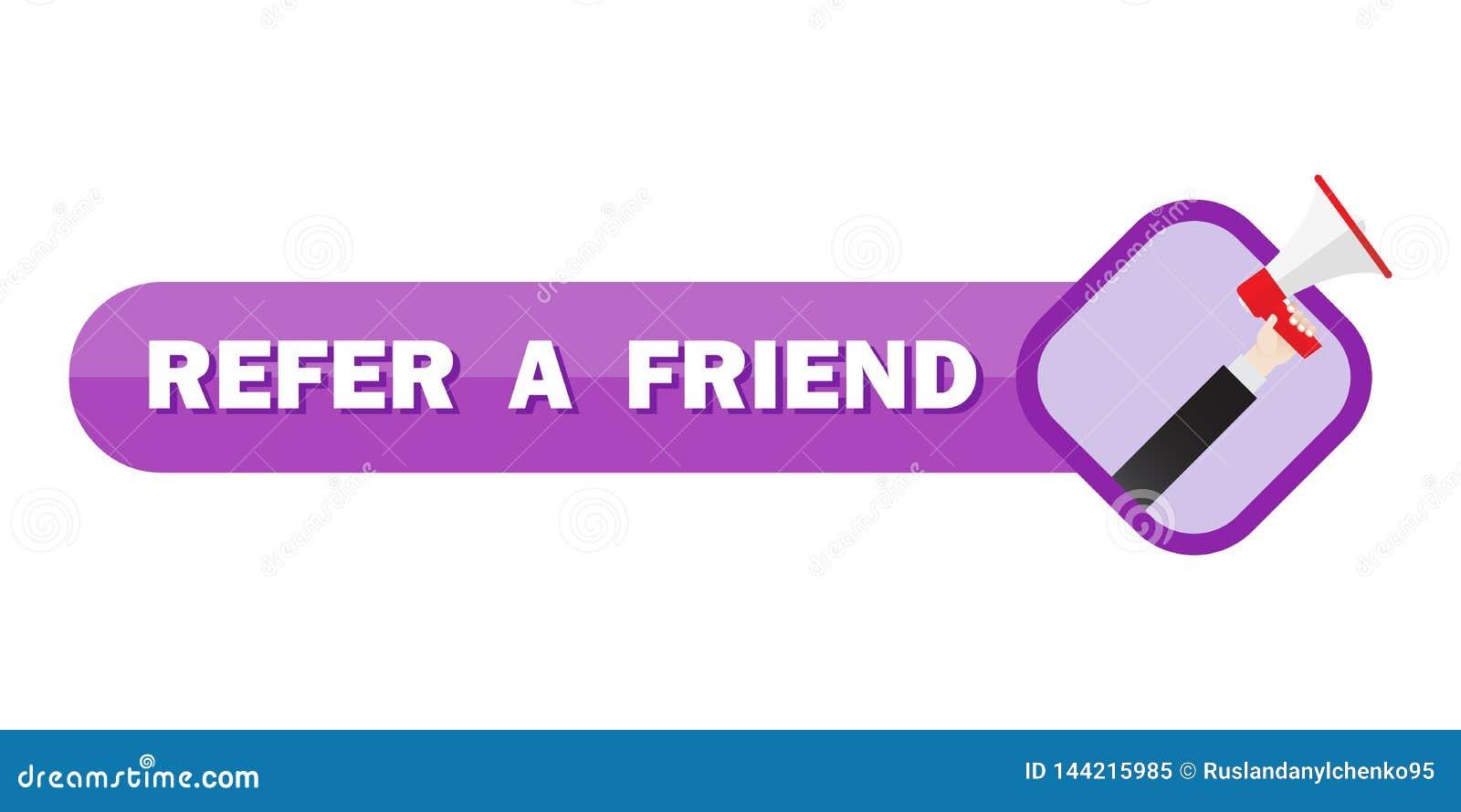 Consulte um conceito da ilustração do amigo, grito dos povos no megafone com para consultar uma palavra do amigo, possa usar-se p