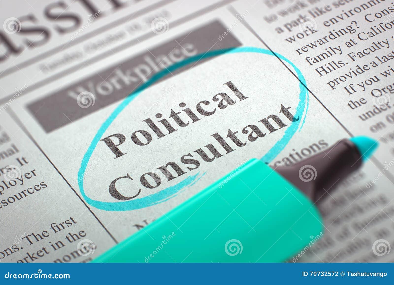 Consultor político Job Vacancy 3d