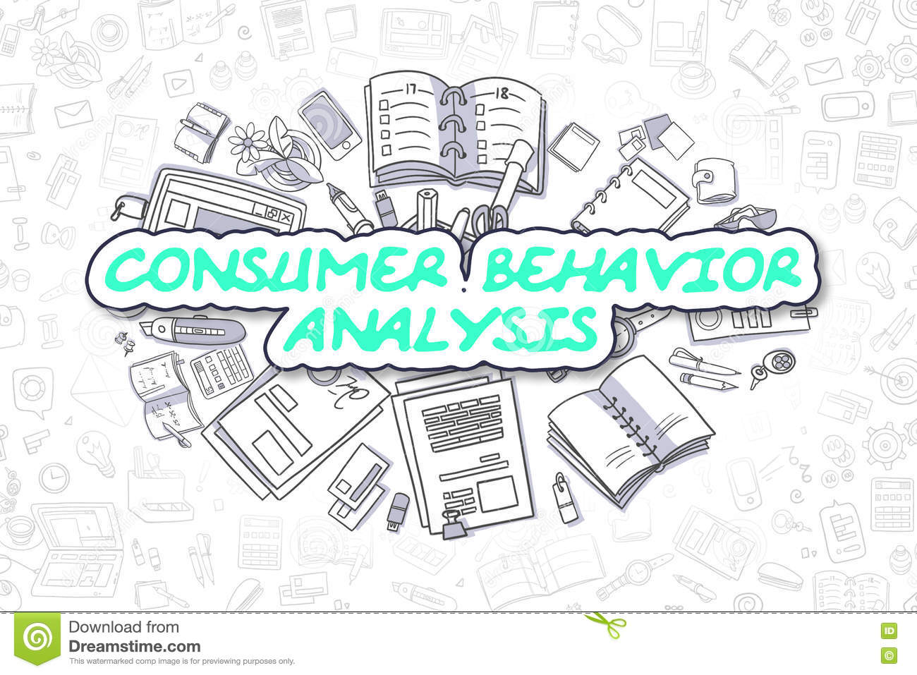 Consumer Behavior Analysis - Business Concept.