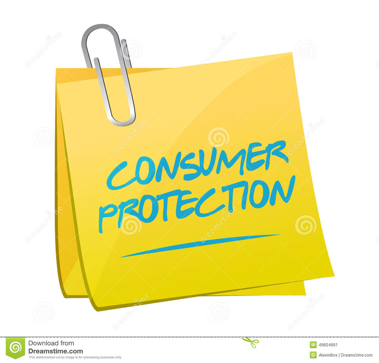 Consumer Protection Memo Illustration Stock Illustration ...