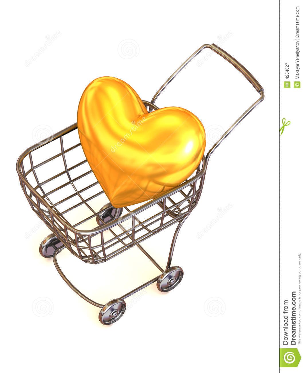 Consumer's Basket With Heart. Royalty Free Stock ...