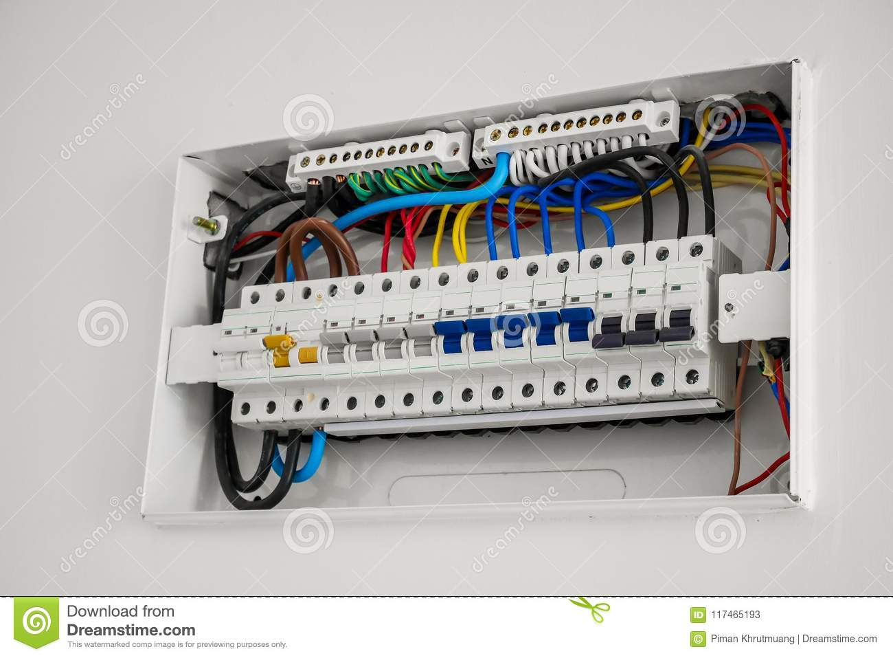 Consumer Unit And Circuit Breaker Installed On The House Stock Image ...