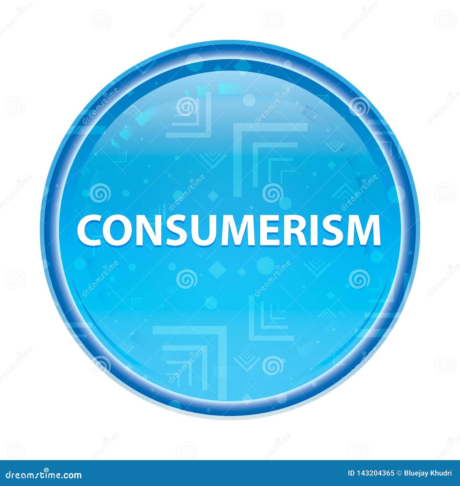Consumerism floral blue round button