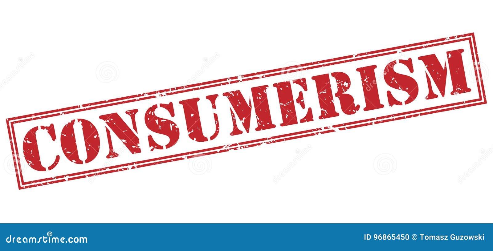 Consumerism red stamp