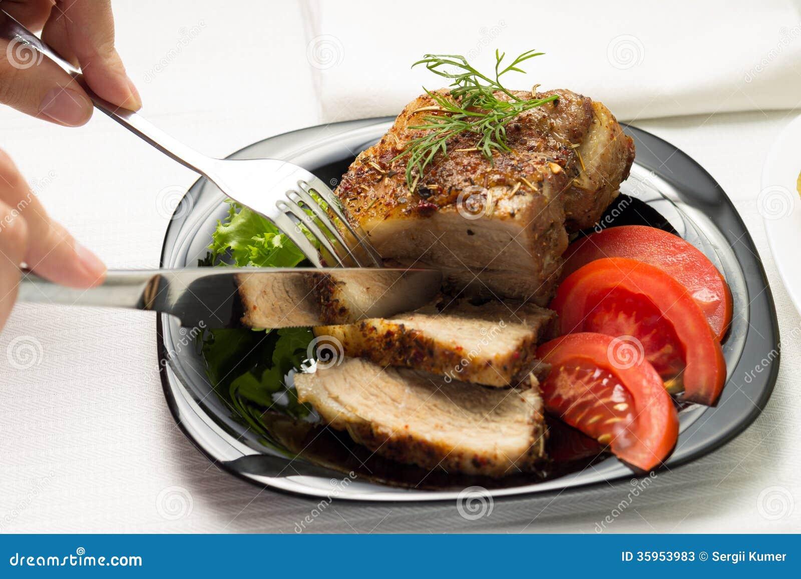 Consumición de la carne cocida