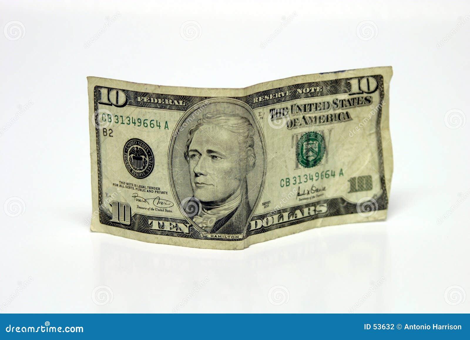 Conta de dólar dez