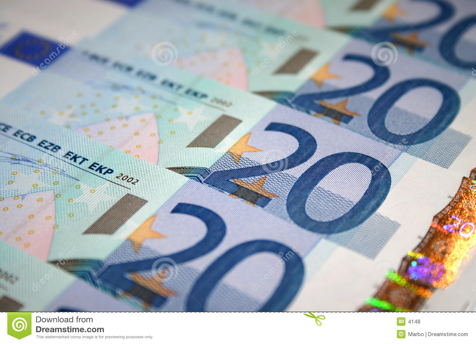 Conta do euro 20