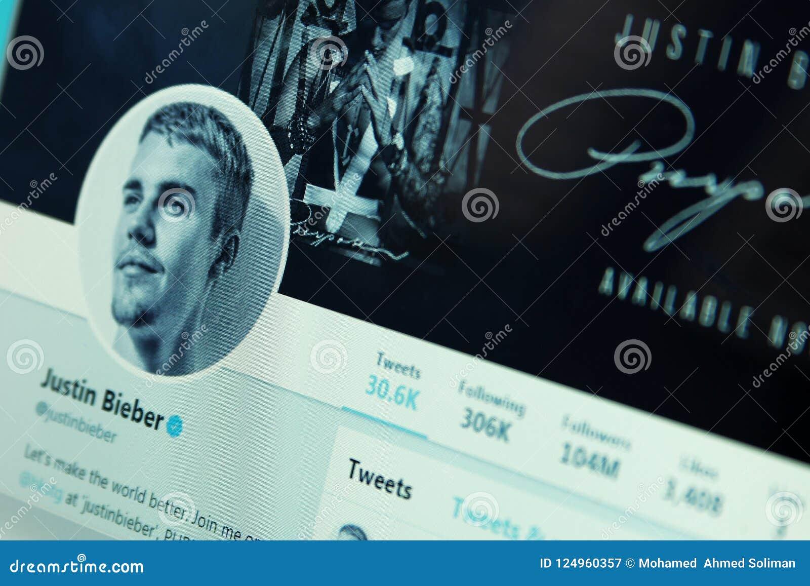 Conta do gorjeio de Justin Bieber