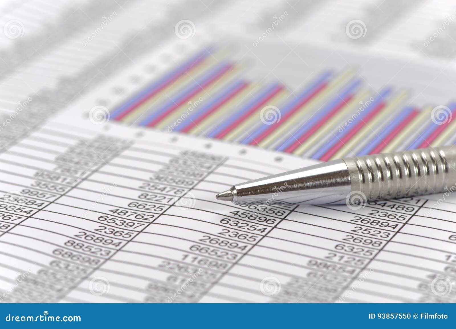 Contabilidade financeira com pena e calculadora