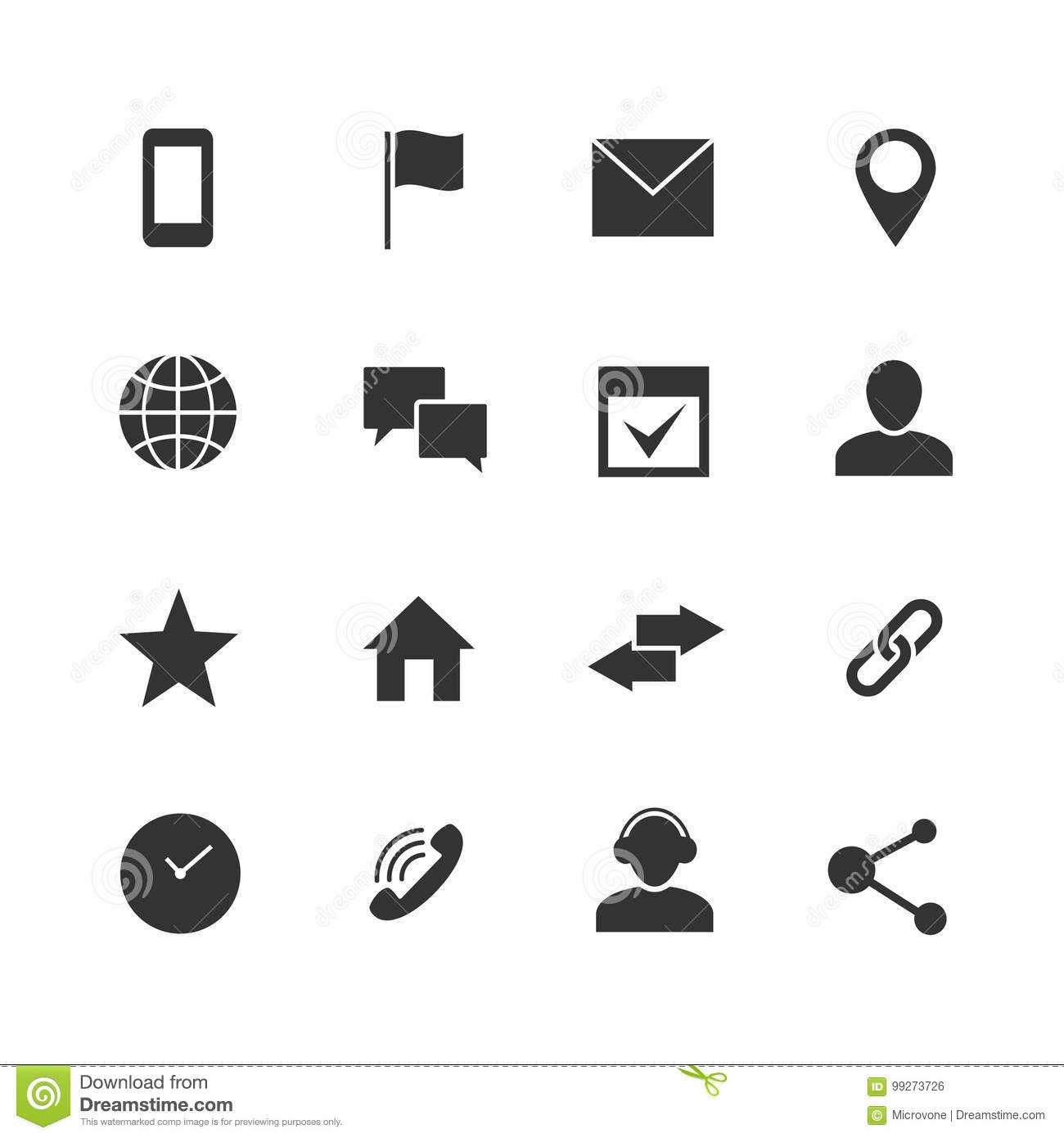 contact and communication internet vector icons  home