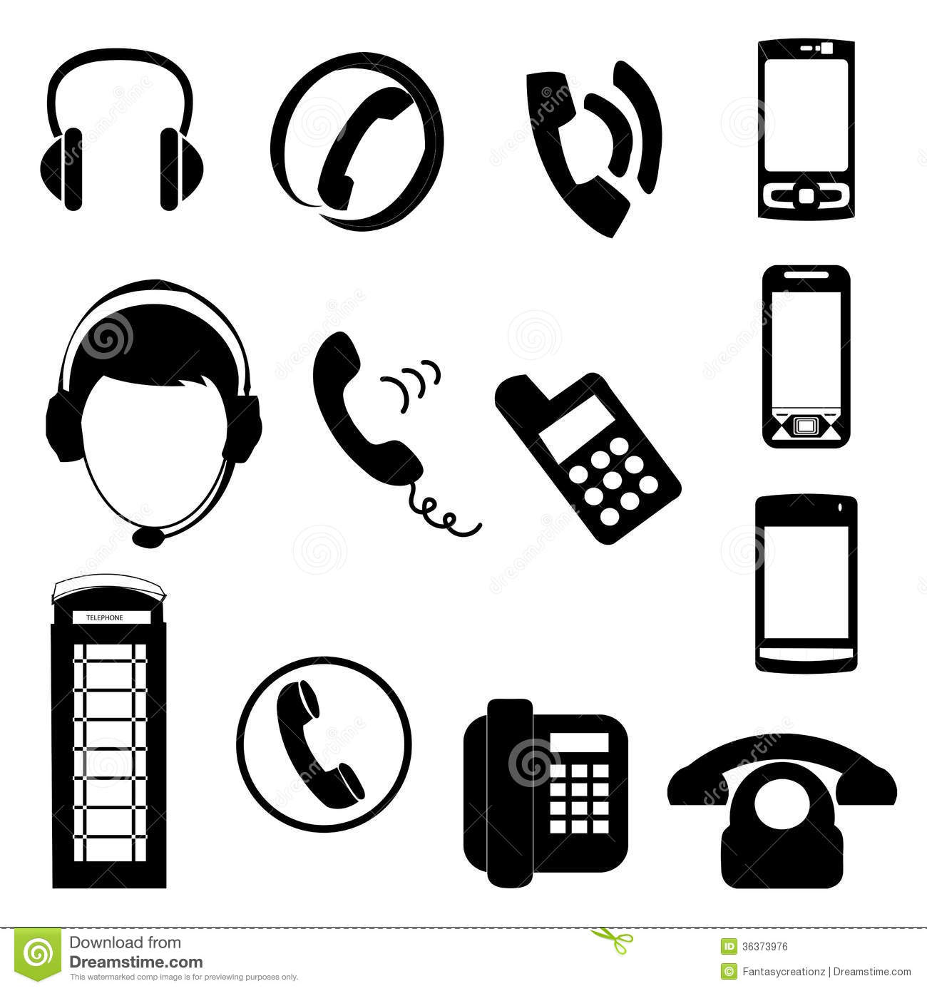 Contact Icons Royalty Free Stock Image - Image: 36373976