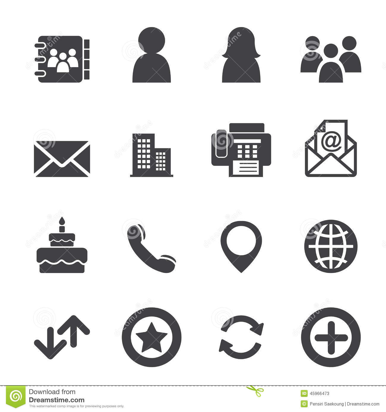 Contact Icons Stock Vector Illustration Of House Building 45966473