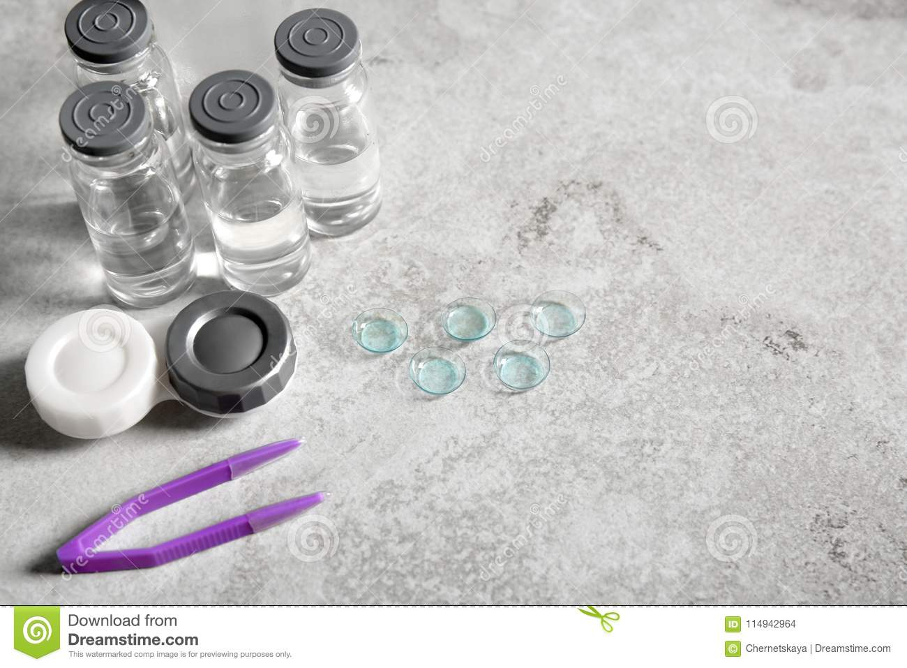 53ac4d8eeb7 Contact Lenses And Accessories Stock Photo - Image of health ...