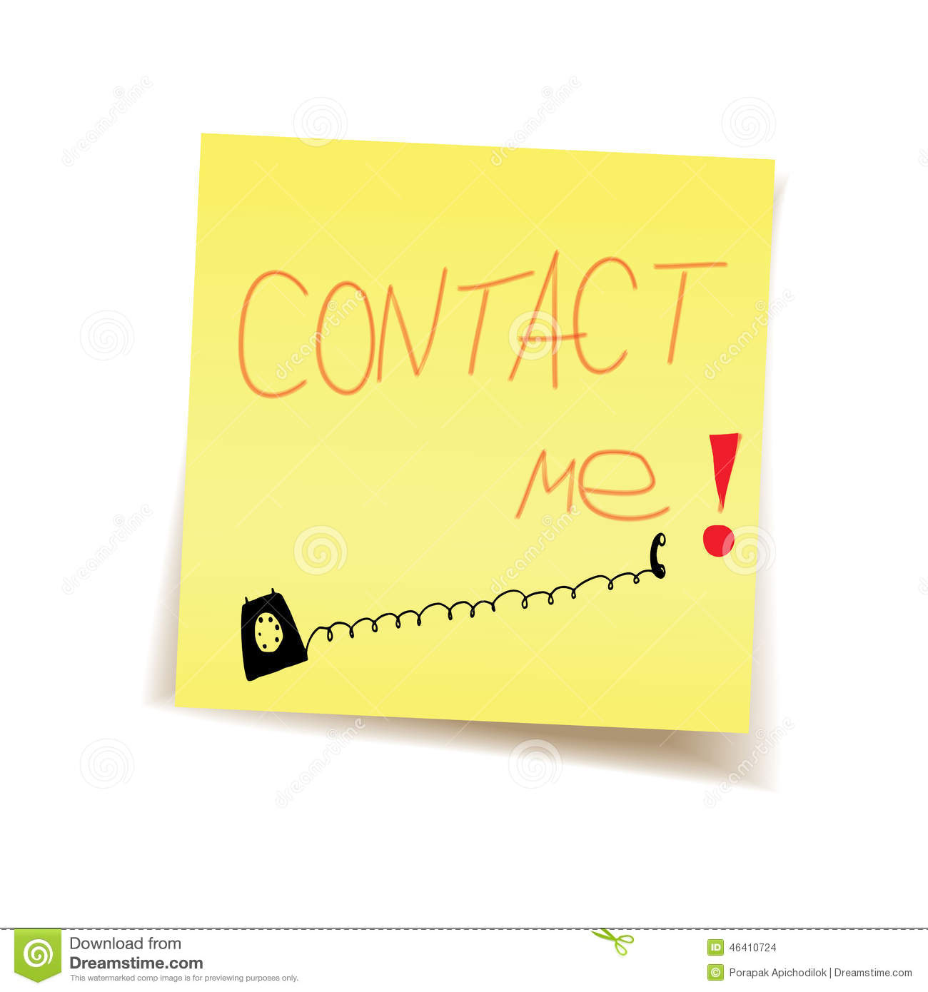 Contact me on post it