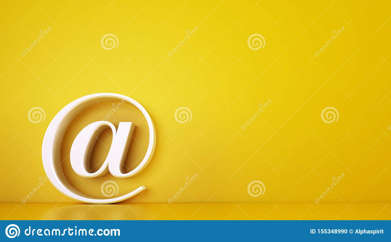 3D icon of a big at on yellow background. Rendering