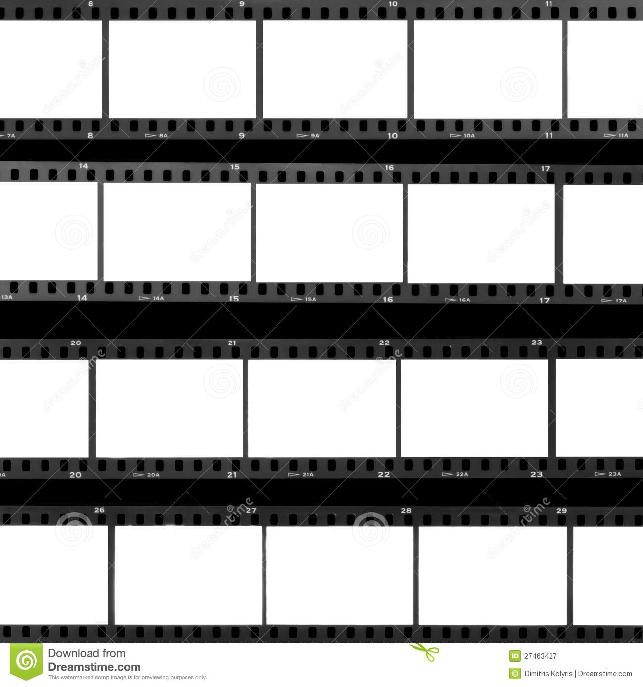 Contact Sheet Blank Film Frames Royalty Free Stock Photography - Image ...