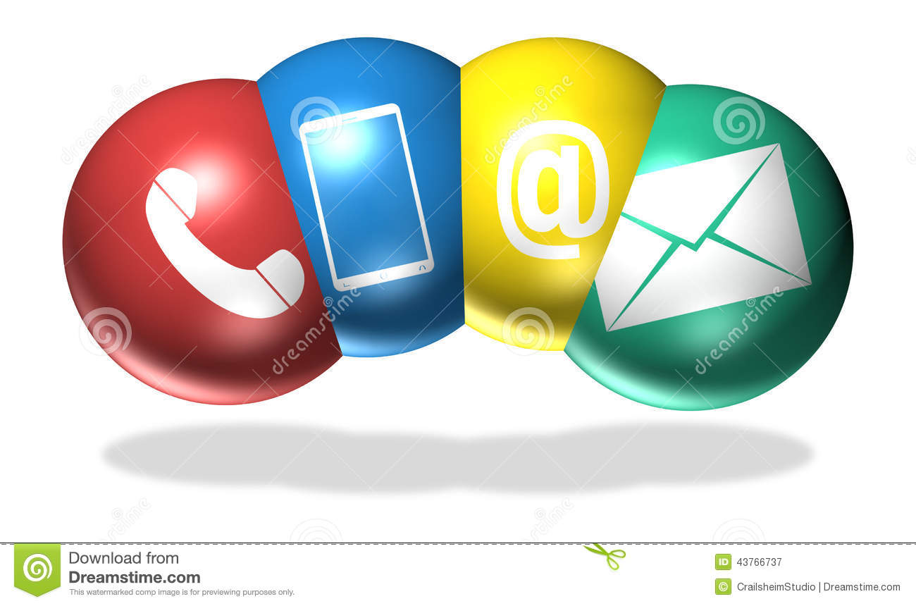 Contact Symbols Stock Illustration Illustration Of Icons 43766737