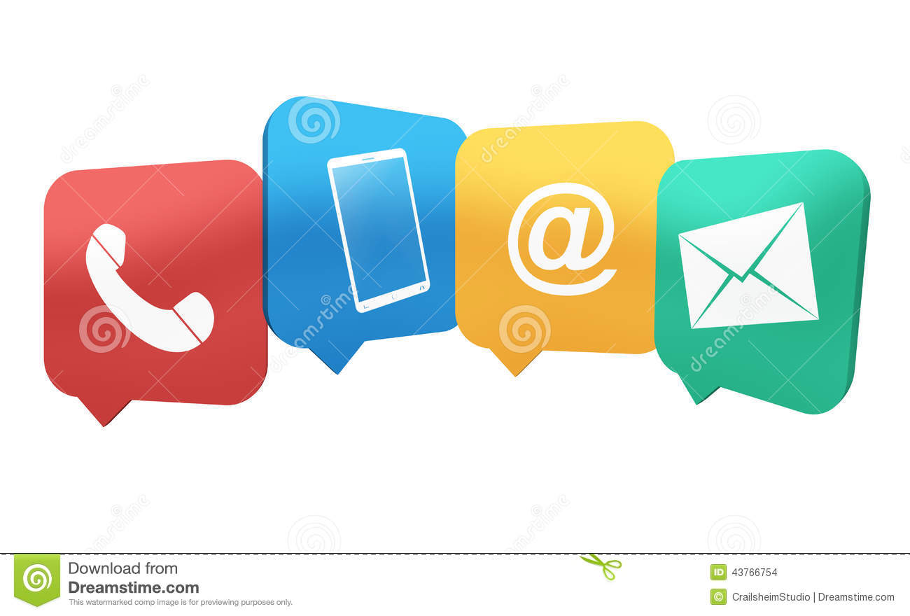 Contact Symbols Stock Illustration Image