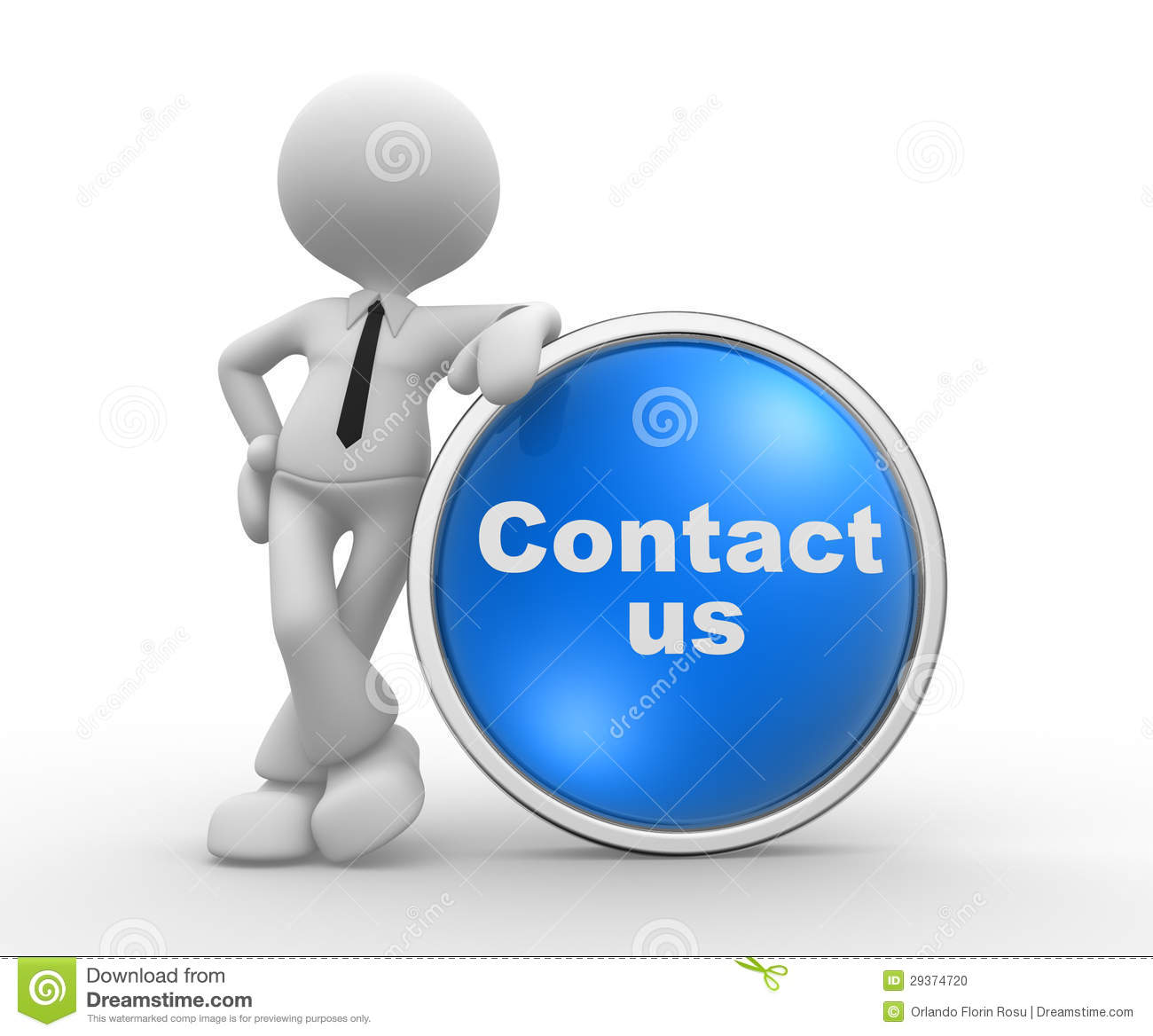 Contact Us Stock Illustration. Illustration Of Business