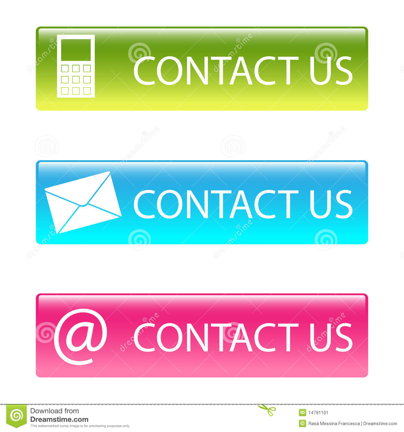 Contact Us: Contact Us Buttons Stock Image