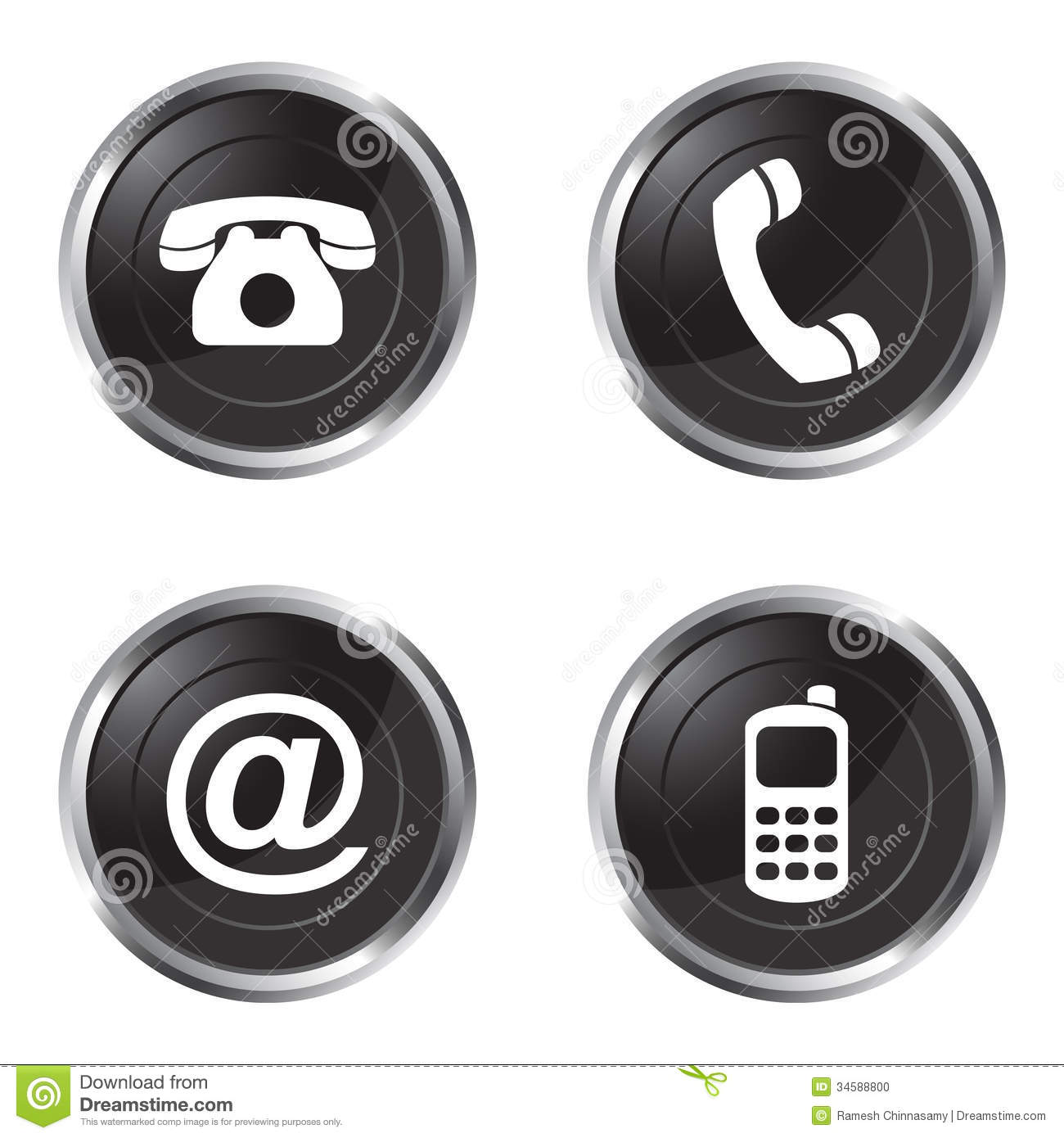 Contact Us: Contact Us Buttons Stock Photo