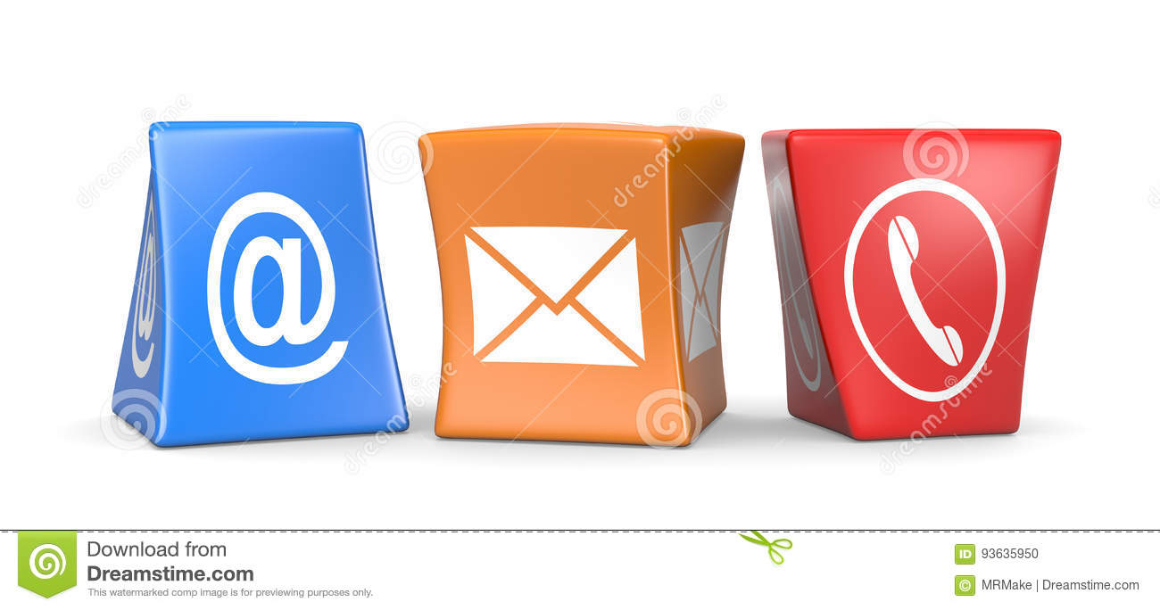 Contact Us Funny >> Contact Us Cubes Stock Illustration Illustration Of Blue