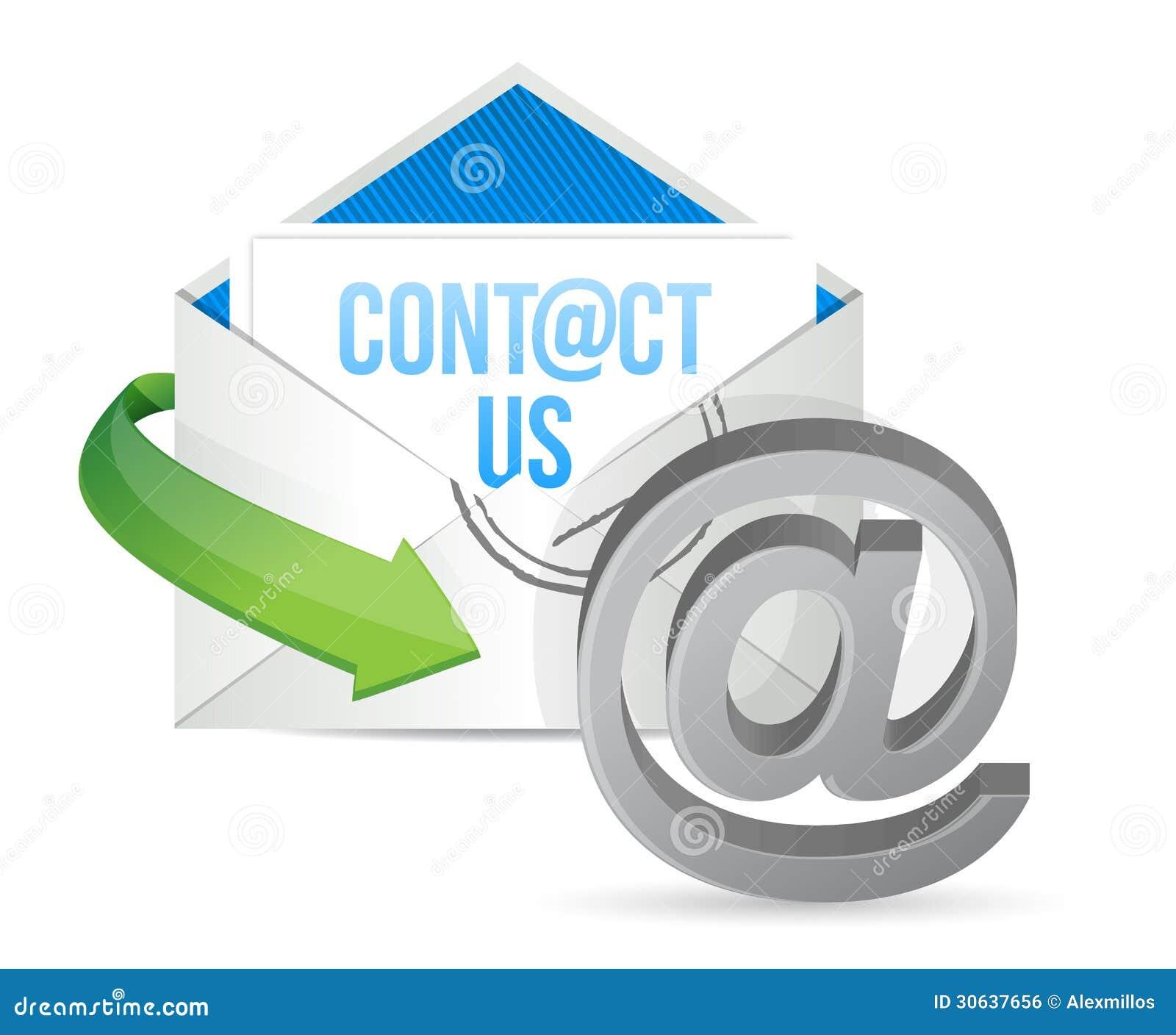 Contact Us E Mail Icon Illustration Design Stock Illustration