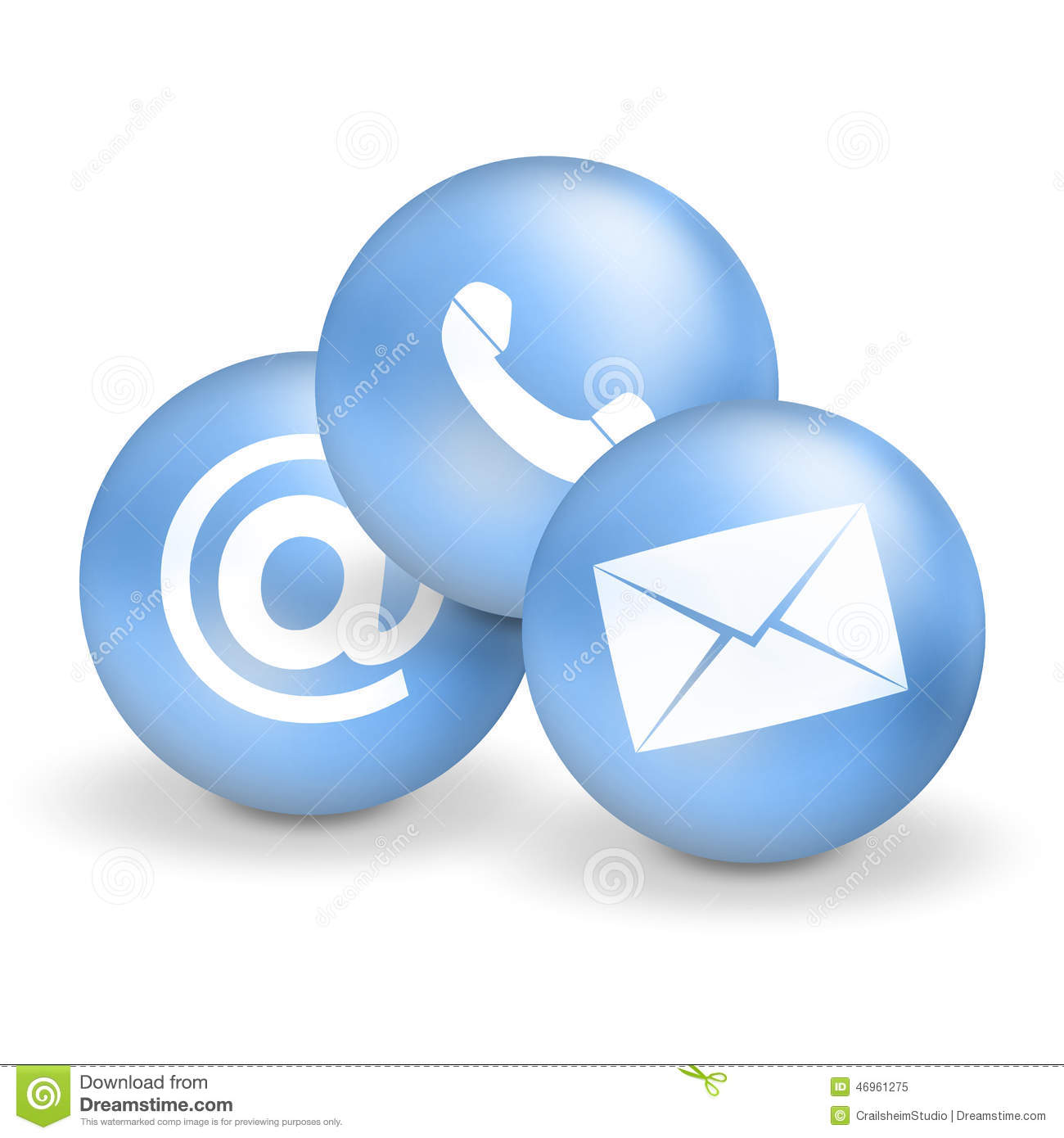 Contact Us Icons Stock Illustration - Image: 46961275