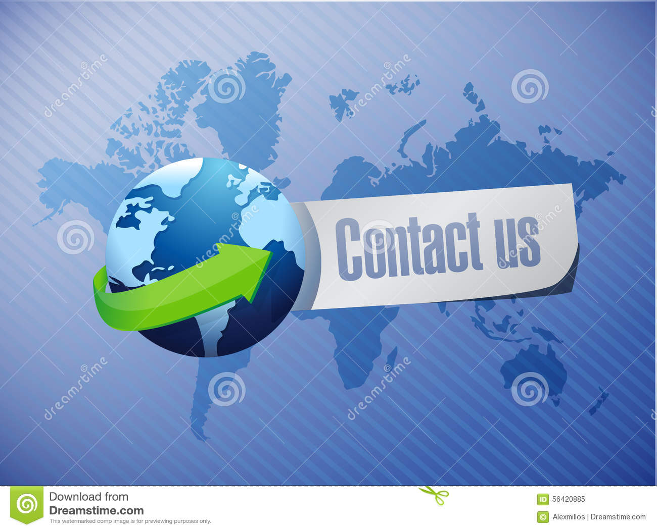 Contact us sign stock image 5556391 for Hispano international decor contact number