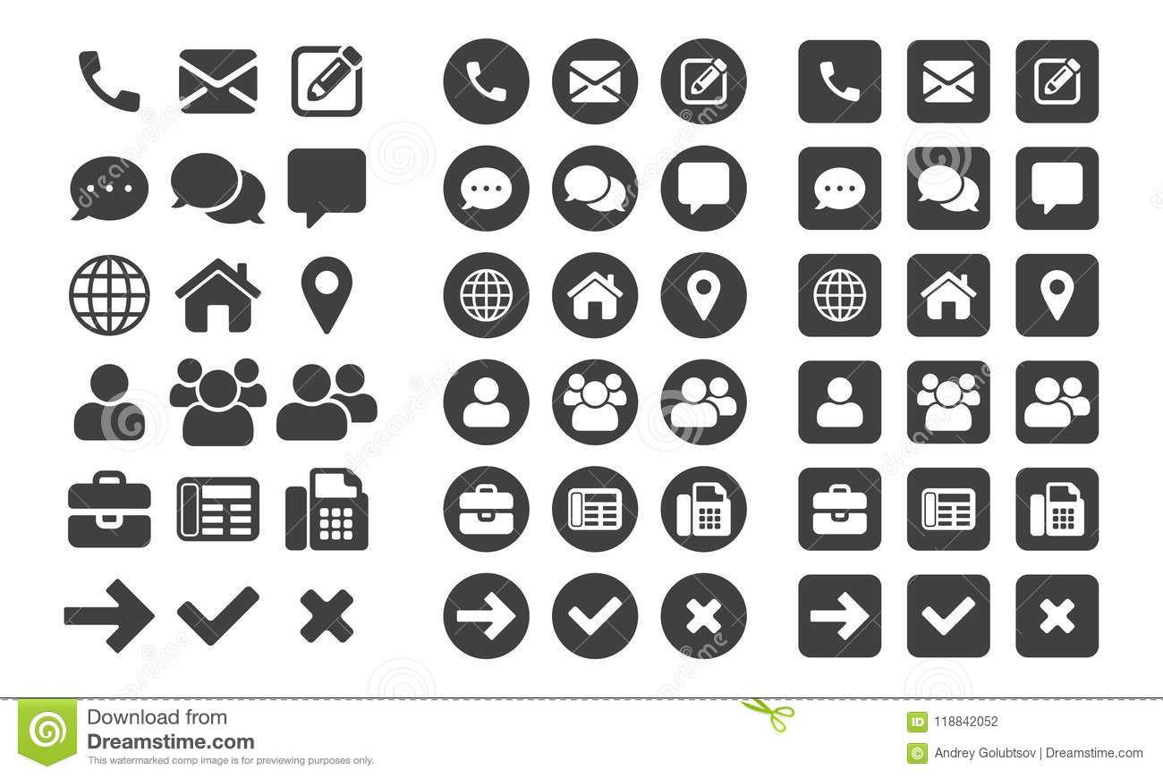 contact vector ui app icons stock vector