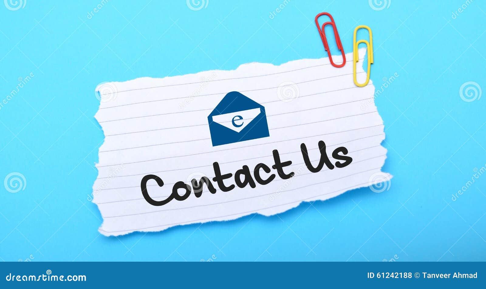 Contacte-nos com ícone do email no Livro Branco