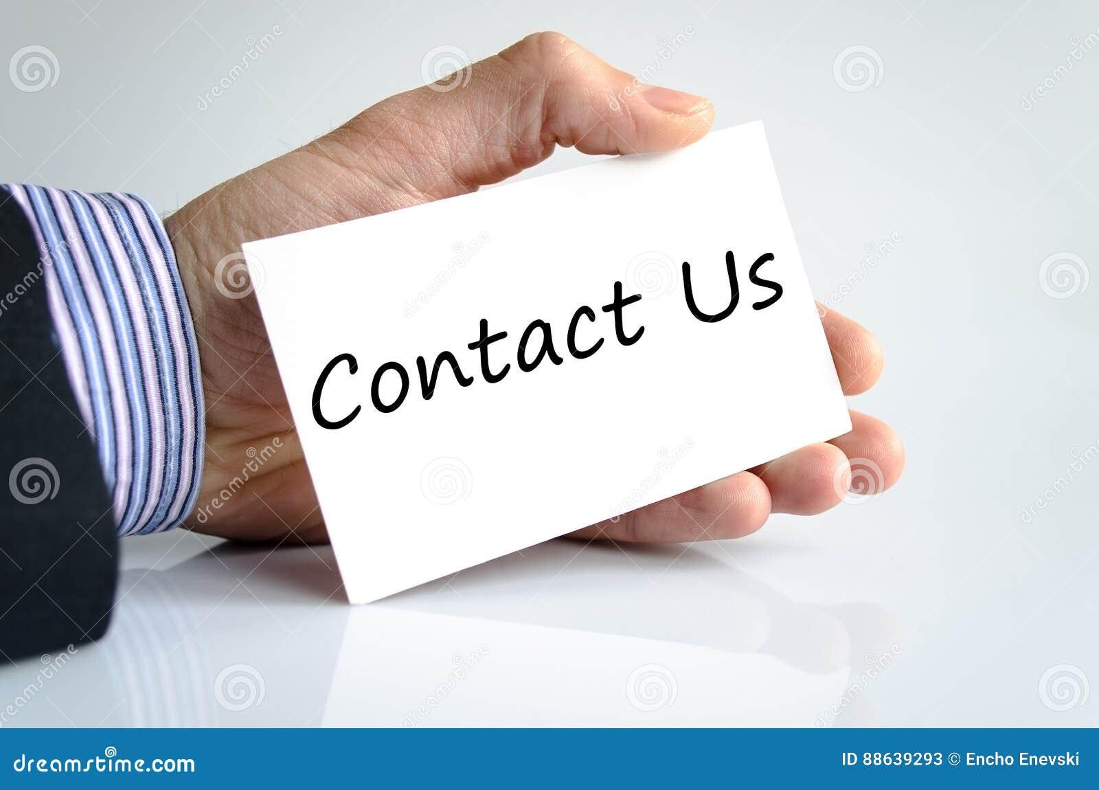 Contacte-nos conceito do texto