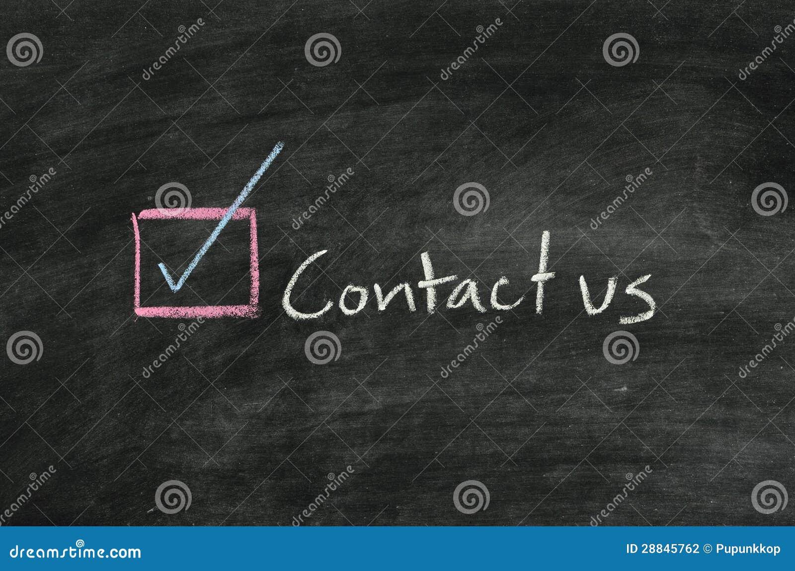 Contacte nos e o botão