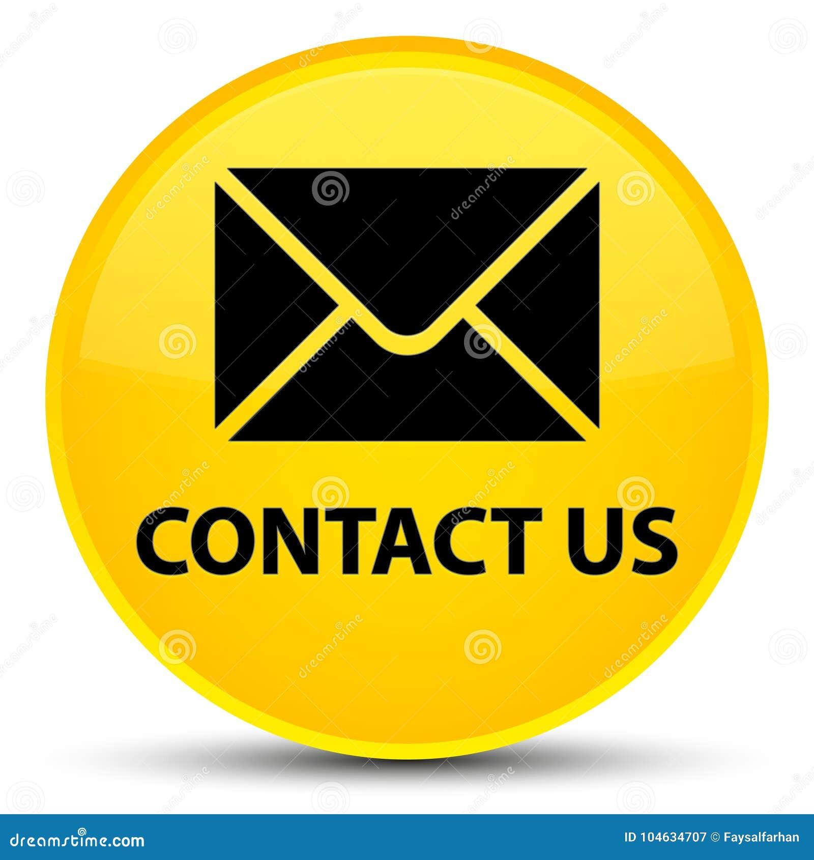 Download Contacteer Ons (e-mailpictogram) Speciale Gele Ronde Knoop Stock Illustratie - Illustratie bestaande uit pictogram, steun: 104634707
