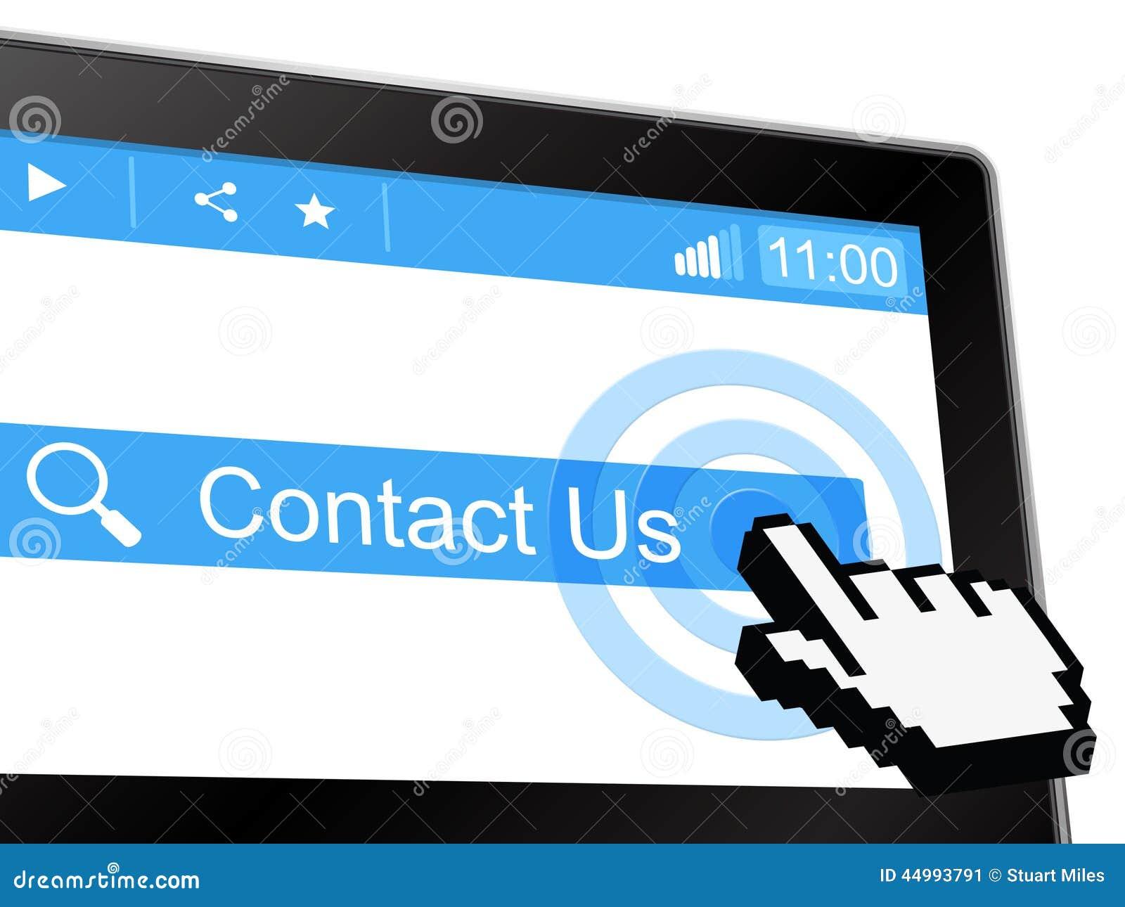 Contacteer ons toont Bericht verzend en communiceer