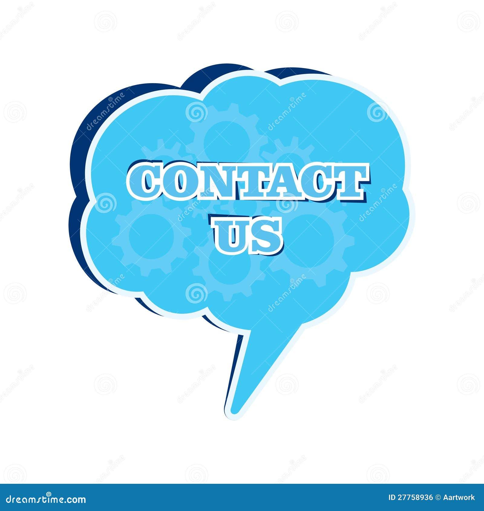 Contactez-nous bulle de message