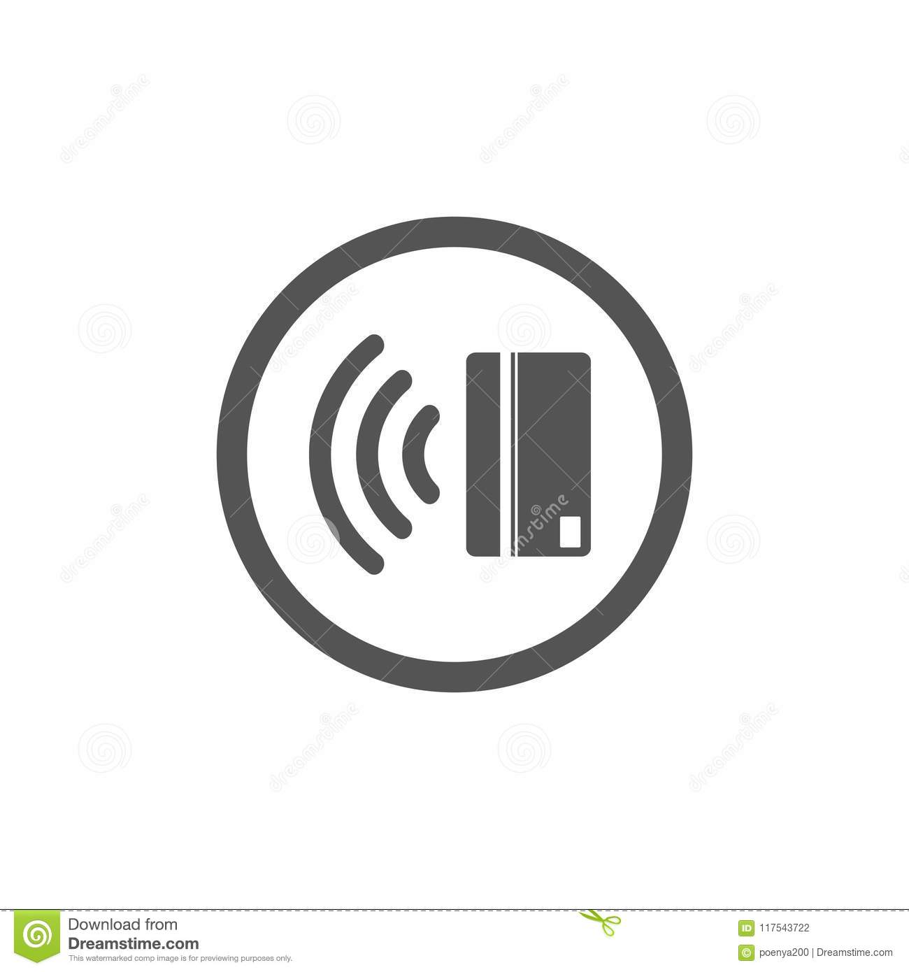 Contactless Payment Icon  Near-field Communication (NFC) Card