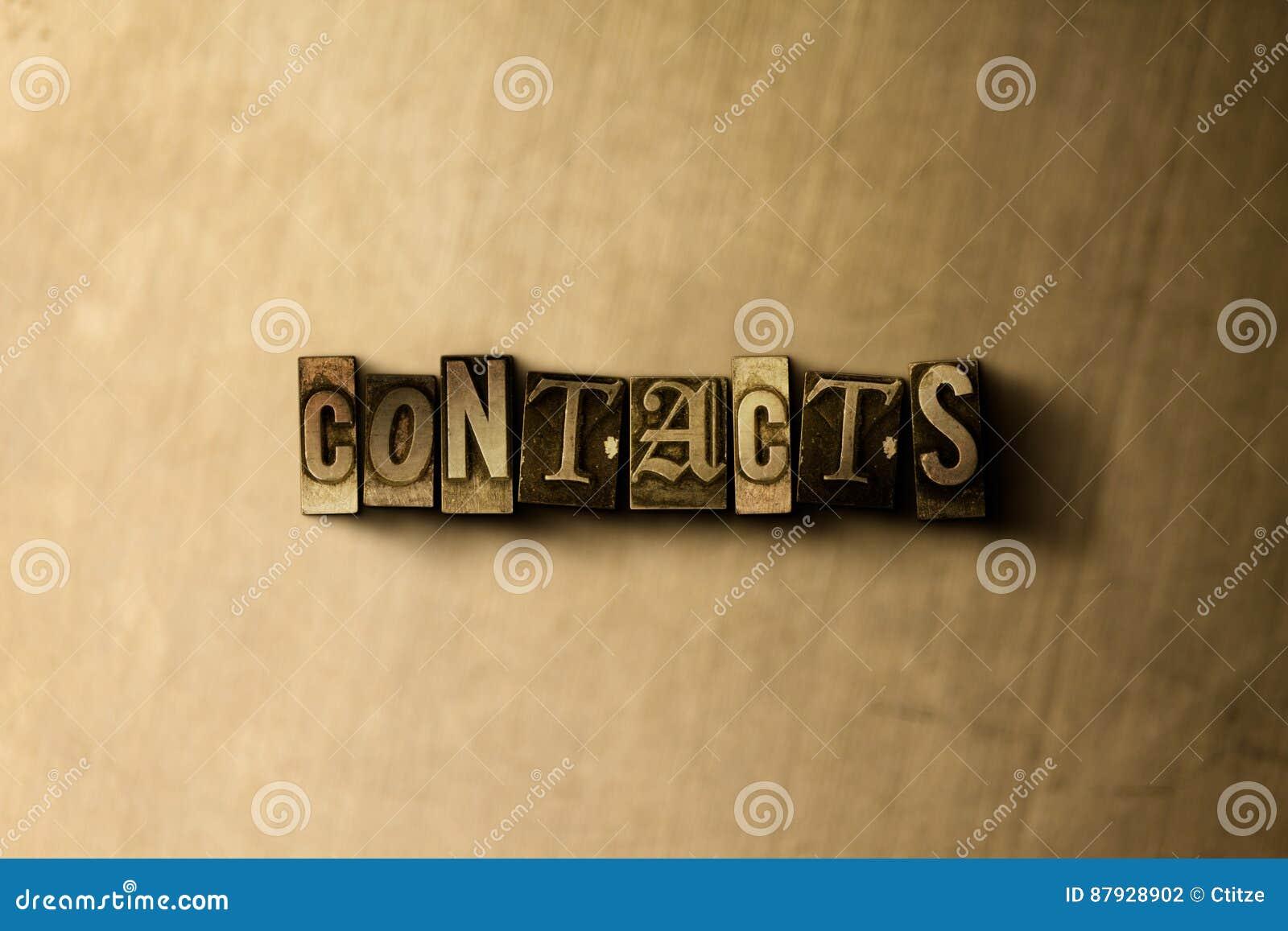 CONTACTOS - primer de la palabra compuesta tipo vintage sucio en el contexto del metal