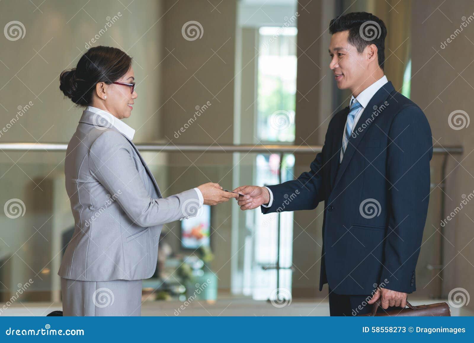Contacts d affaires d échange