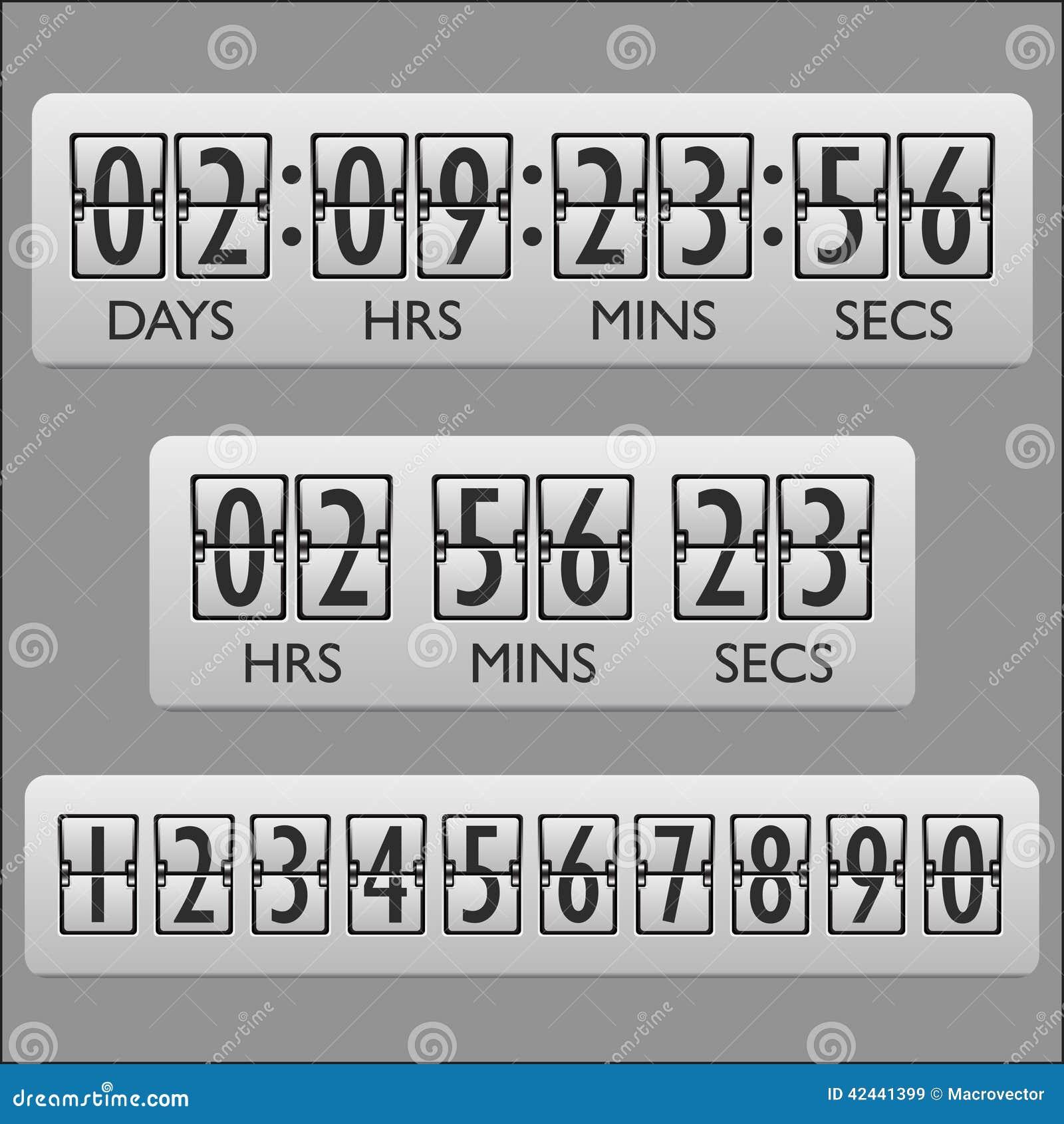 Contador de tiempo del reloj de la cuenta descendiente