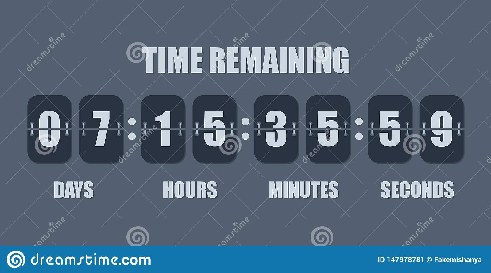 Contador de tiempo del contador de reloj de la cuenta descendiente del tir?n La cuenta restante del tiempo del vector abajo mueve
